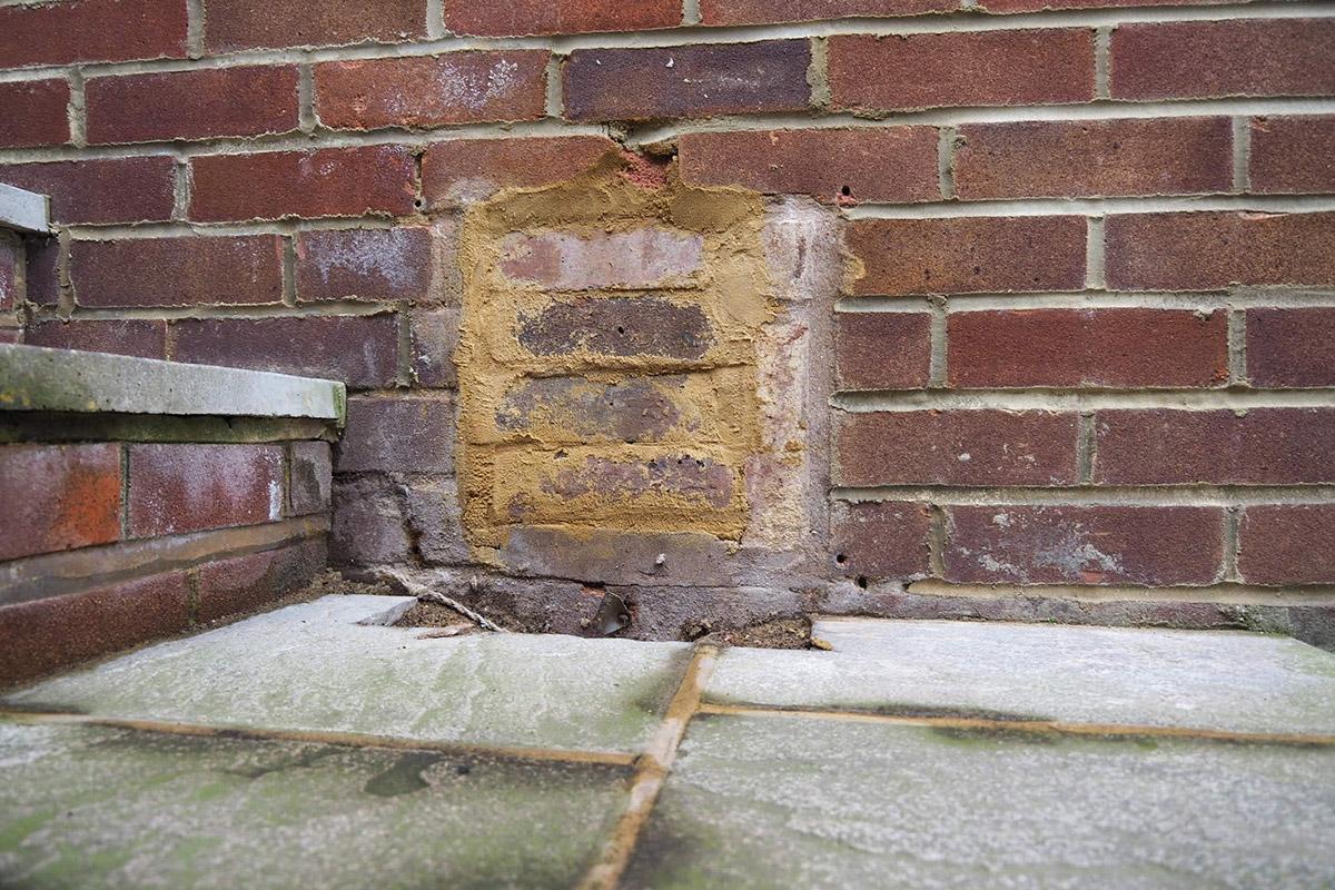Brickwork repair after poor quality work has taken place