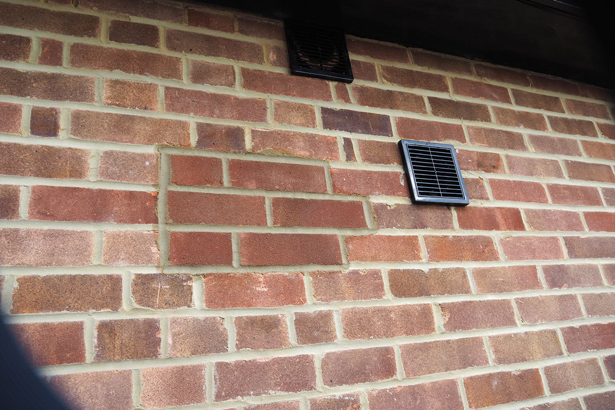 New brickwork and repairs completed