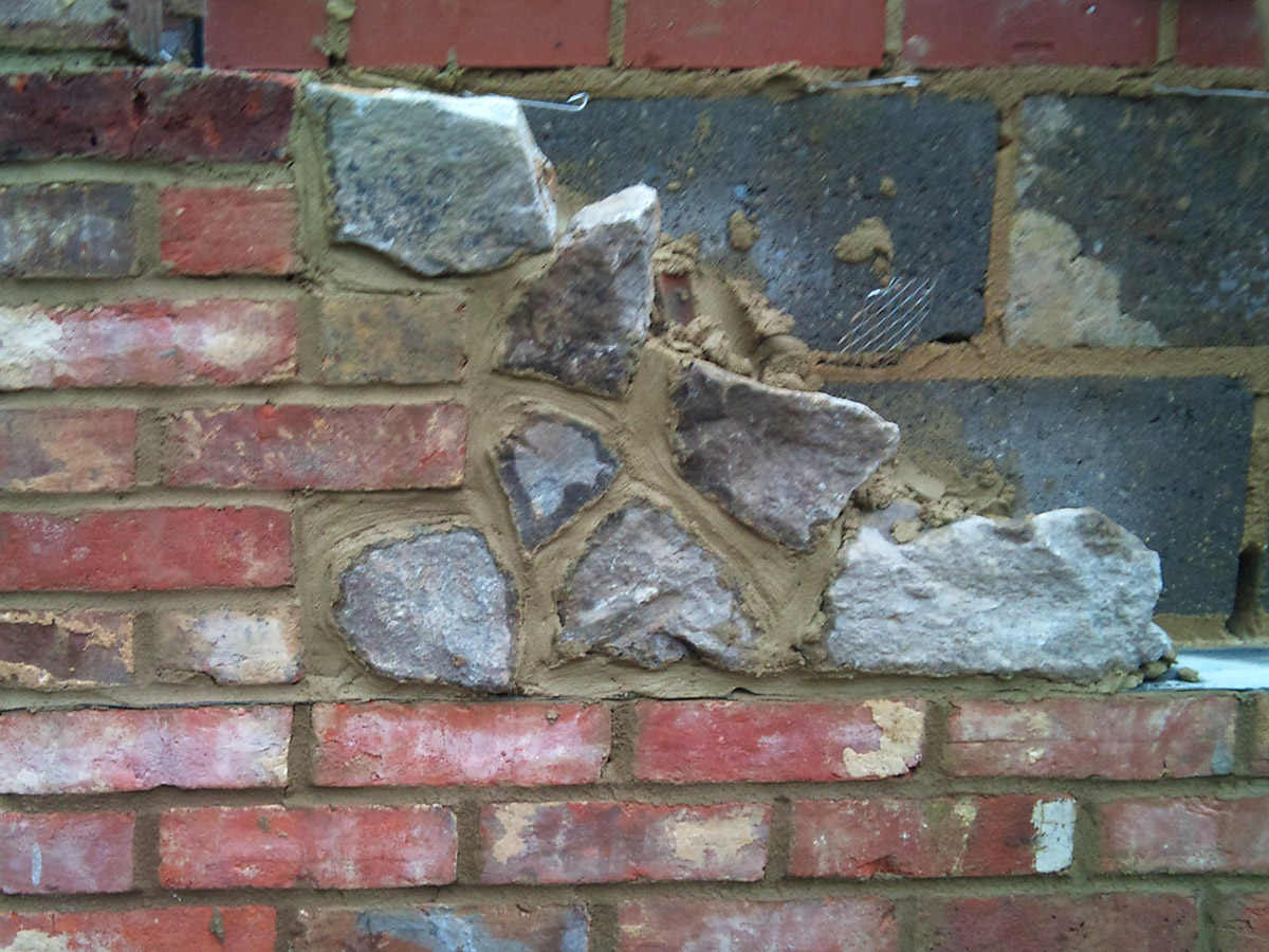 Brick and Flint wall